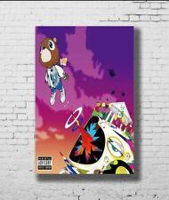 W233 Art Kanye West Graduation Cute Bear Rap LW-Canvas Poster