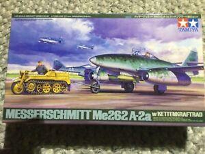 Tamiya 1/48th Messerschmitt Me 262A-2a w/Kettenkraftrad 61082 Model Kit