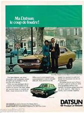PUBLICITE ADVERTISING 095  1977  DATSUN  la  120Y