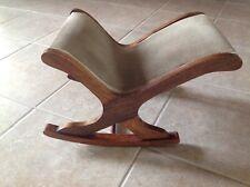 Vintage Rocking Gout Stool,Wood frame
