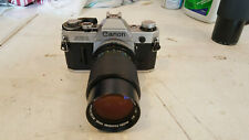 Canon AE-1 SLR Film Camera, 2 Lenses *** Please Read