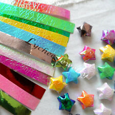 90 Strips DIY Origami Paper Folding Stripe Pearl Shiny Lucky Wish Star Craft