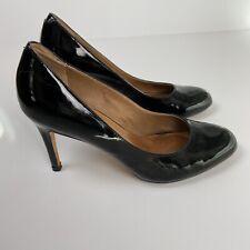 CORSO COMO Anthropologie Black Patent Leather Round Toe Pumps Heels Shoe Sz 8.5