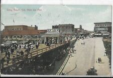 long beach ca from the pier dated 1909 postcard