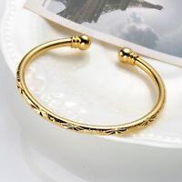 Women Gift 18k Yellow Gold Filled Open Charming Bangle Bracelet Fashion Jewelry
