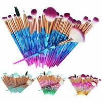 20Pcs Unicorn Makeup Brushes Set Soft Foundation Eyeshadow Eyebrow Lip Brush Kit