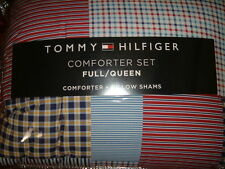 TOMMY HILFIGER  MIDDLEBURY PLAID  QUEEN FULL COMFORTER  STANDARD   SHAMS 3PC