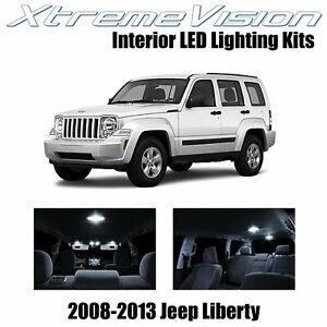 XtremeVision Interior LED for Jeep Liberty 2008-2013 (9 PCS) Pure White