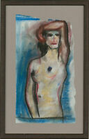 M.C - Framed Contemporary Pastel, Female Nude