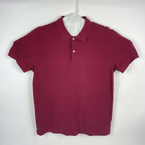 UNTUCKit Men's Size Large Burgundy Cotton Polo Shirt New No Tags