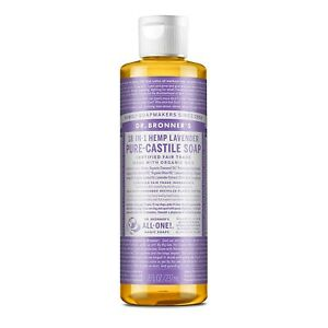 Dr. Bronner's - Pure-Castile Liquid Soap (Lavender, 8 ounce) - Made with Orga...