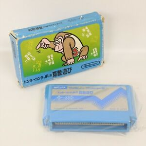 DONKEY KONG JR MATH SANSU ASOBI No Instruction Famicom Nintendo 8376 fc