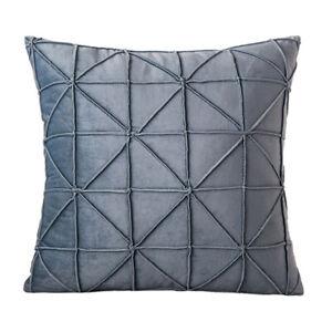 Modern Simple Velvet Pillow Case Geometric Cushion Cover Sofa Home Decorative