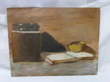STILL LIFE BOOKS OIL PAINTING ON CANVAS
