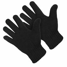 Mens Womens Black Warm Gloves for Winter Cold Weather Ski Thermal Mitten