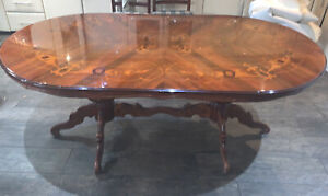 Polished Dining Table with 6 chairs included