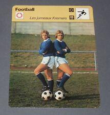 FICHE FOOTBALL 1977 HELMUT ERWIN KREMERS SCHALKE 04 BUNDESLIGA BRD DEUTSCHLAND