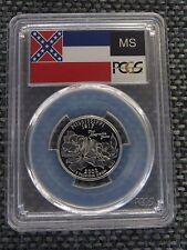 2002-S 25c Mississippi SILVER State Flag Labeled Quarter Proof PCGS PR70DCAM