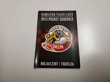 Rs20 Hamilton Tiger-Cats 2013 Cfl Football Pocket Schedule - Coors Light