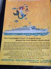 P1-2 Ephemera 1964 Advert Moore Mccormack Lines Luxury World