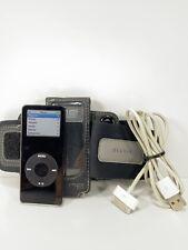 Apple iPod Nano 1st Gen A1137 Black 1GB + Belkin Arm Band Bundle - Working