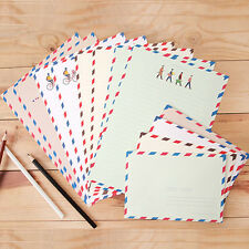 4type London Air mail Style Letter set 16x Writing Stationery Paper 8x Envelope
