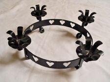 Adventskranz Metall schwarz Kerzenhalter Kerzenkranz Weihnachten Advent
