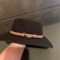 EDDY BROS. BROWN WOOL FELT COWBOY HAT SMALL