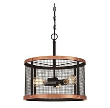 Westinghouse 6332700 Emmett 3-Light Oil Rubbed Bronze & Washed Copper Pendant