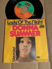 """DONNA SUMMER - LADY OF THE NIGHT / WOUNDED - 7""""-SINGLE - GERMANY 1975 (12)"""