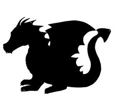 Dragon Laser Cut Out Silhouette Wall Decor Metal Sign 13.5x19  RVG343B