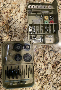 Vintage NECCHI Supernova Sewing Machine Parts & Cams Made in Italy *Rare Bobbins