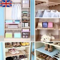 Adjustable Space Saving Storage Shelf Wall Mounted Kitchen Rack Wardrobe Holders