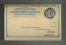 1925 Tel Aviv Palestine Postcard cover Reply Card Mail from USA Schiff Bank