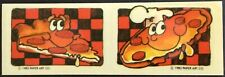 Vintage Scratch & Sniff Stickers - Paper Art - Pizza - Dated 1983