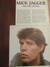 Mick Jagger, The Rolling Stones, Full Page Vintage Clipping