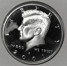 2001 SILVER PROOF KENNEDY HALF DOLLAR GEM CAMEO CONDITION