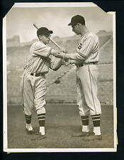 Joe DiMaggio & Dom DiMaggio San Francisco Seals 1937 Press Wire Photo Yankees