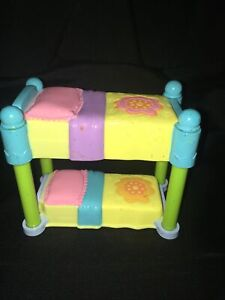 Dora the Explorer Mattel Dollhouse Furniture Twin Bunk Bed, 2003