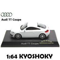 White Kyosho 1:64 AUDI TT Coupe Diecast Model Car Mint 1/64 2007 limited edition