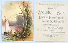 Victorian Trade Card - Chamber Sets Furniture North Adams Massachusetts
