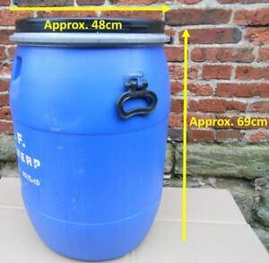 1 x 100ltr Blue Clip Top Plastic Barrel, Water Butt, Storage Barrel, Feed Bin