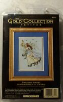 Dimensions Twilight Angel Gold Collection Petites Counted Cross Stitch Kit 5x7