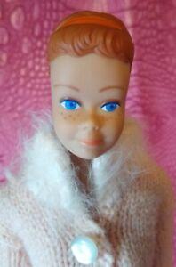 Vintage 60's Fashion Queen Midge Barbie w Org Headband - Side Part Brunette Wig