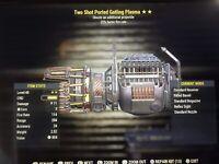 Fallout 76 PS4 Two Shot FFR Gatling Plasma Level 40