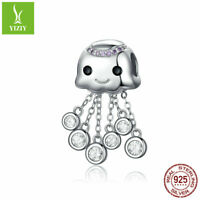 DIY Octopus 925 Sterling Silver Charm Beads Fit Pendant Women Bracelet Jewelry