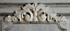 Lovely french country home ornate style double white georgian scroll pediment