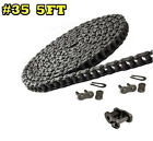 #35 Roller Chain 5 Feet with 2 Master and 1 Offset Links for GO KART, Mini Bike