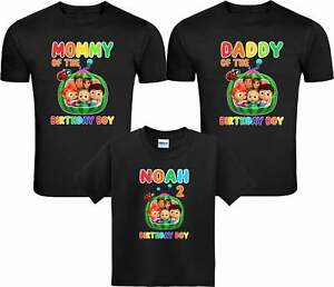 Cocomelon Personalized Family Birthday Shirts, Cocomelon Custom T-Shirts