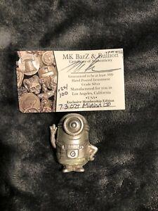 7.3 Troy Oz. MK BarZ .999 Limited Silver Minion 022/100